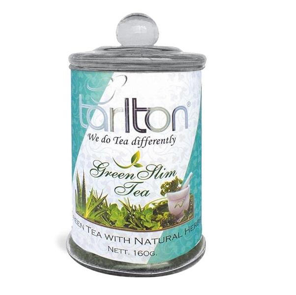 Чай Tarlton Green Slim Tea Слим, крупнолистовой, цейлонский, 160 г