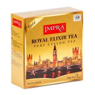 Чай Impra Royal Elixir Gold Tea (Королевский эликсир Золотой), цейлонский, пакетированный, 100х2 г, 200 г