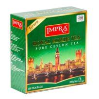 Чай Impra Royal Elixir Green Tea (Королевский эликсир Зеленый), цейлонский, пакетированный, 100х2 г, 200 г
