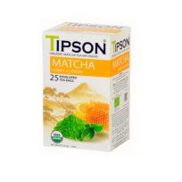 Чай Tipson Matcha Honey Lemon (Матча с медом и лимоном), цейлонский, пакетированный, 25 х 1,5 г, 37,5 г