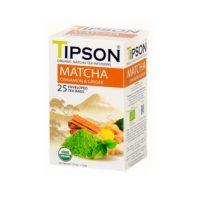 Чай Tipson Matcha Cinnamon Ginger (Матча с корицей и имбирем), цейлонский, пакетированный, 25 х 1,5 г, 37,5 г