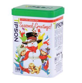 Чай Tipson Ceylon Green Tea (Новорічне привітання), цейлонский, 75 г