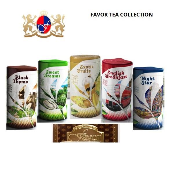 Чай Favor Collection Tea Коллекция Favor, цейлонский, крупнолистовой, 5*120 г