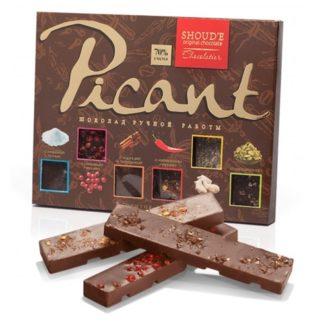 Шоколад SHOUD'E Picant Пикантный, черный, набор плиток