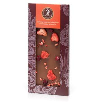 Шоколад SHOUD'E Milk strawberries and blackberries С клубникой и ежевикой, молочный