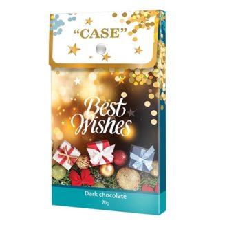 Шоколад SHOUD'E Сase, best wishes dark C наилучшими пожеланиями