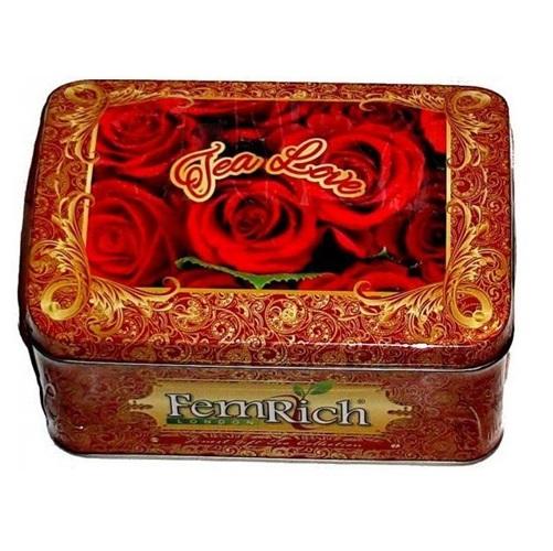 Чай FemRich Tea Love Чай Любви, цейлонский, крупнолистовой, 2x80 г, 160 г