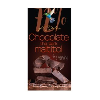 Шоколад A-Delis Chocolate dark (Шоколад темний 72%), Україна, без цукру, з мальтитолом, 70 г