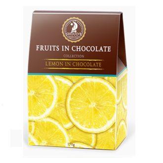 Конфеты Фрукты в шоколаде SHOUD'E Lemon in chocolate Лимон в шоколаде
