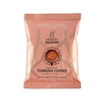 Кофе KURUKAHVECİ BAYRAMEFENDI Turkish Coffe (Турецкий традиционный), Арабика, молотый, 100 г
