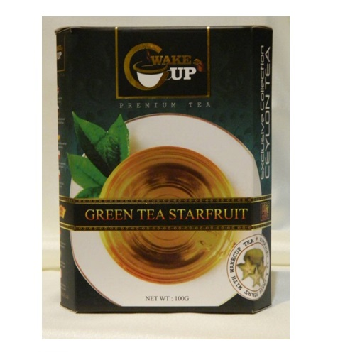 Чай WakeCup Star Fruit Green Tea Карамболь, цейлонский, 100 г