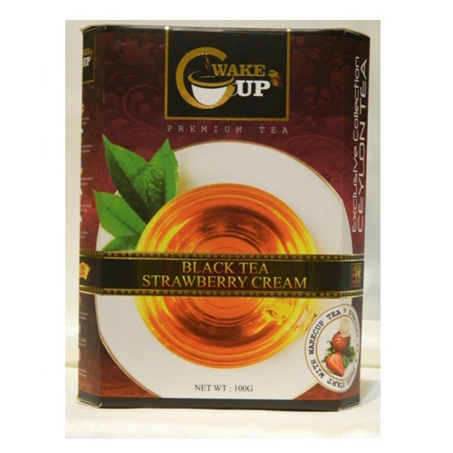 Чай WakeCup Black Tea FBOP with Strawberry Cream Клубника со сливками, цейлонский, 100 г
