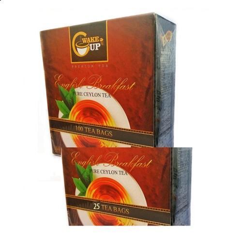Чай WakeCup English Breakfast Английский завтрак, пакетированный, цейлонский, 100 х 2 г, 200 г