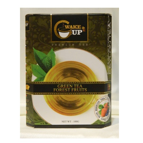 Чай WakeCup Forest Fruit Green Tea Лесные ягоды, цейлонский, 100 г