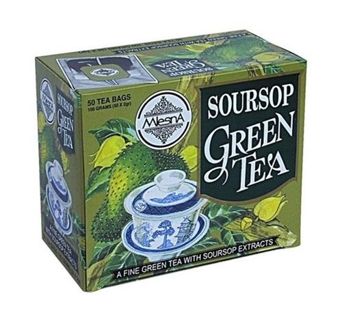 Чай Mlesna Soursop Green Саусеп в пакетиках, цейлонский, пакетированный, 50 х 2 г