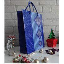 Пакет подарочный Узор, ламинированный картон, размер: 31 х 24 х 9 см