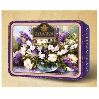 Чай Zylanica Flower Caddy Purple FBOP tips Цветочная шкатулка, фиолетовая, цейлонский, 100 г
