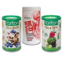 Чай Tarlton Коллекция Red & Green Здоровье, Красный бизон, Любовь, цейлонский, 3x100 г
