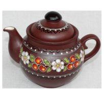 Керамический чайник Вишенька, емкость, ручная роспись, 500 мл
