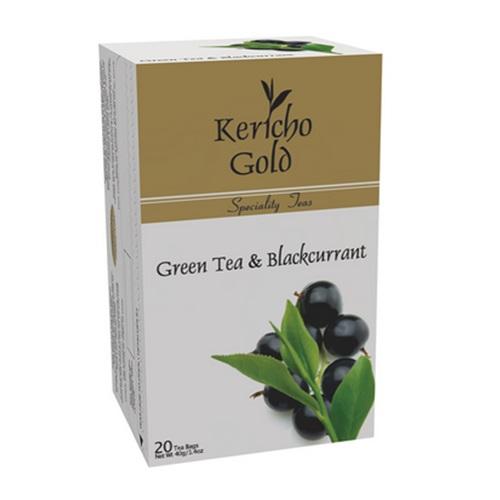 Чай Kericho Gold Green Tea & Blackcurrant Зеленый со смородиной, кенийский, пакетированный, 20 х 2 г