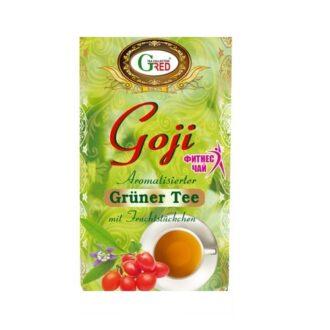 Чай Gred Goji Green Tea (Ягоды Годжи), цейлонский, 100 г