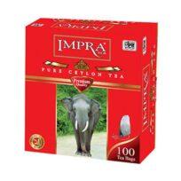 Чай Impra Premium Pure Ceylon Black Tea Red (красная серия), цейлонский, пакетированный, 100х1.8 г, 180 г