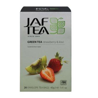 Чай JAF Strawberry Kiwi Green Tea Клубника и киви, цейлонский, пакетированный, 20x2 г, 40 г