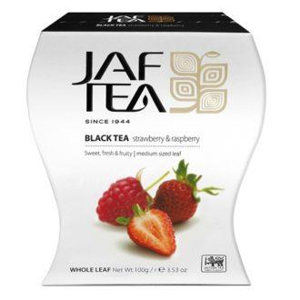 Чай JAF Strawberry & Raspberry Клубника Малина, цейлонский, 100 г