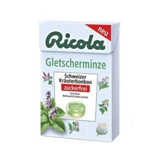 Леденцы Ricola Gletscher-Minze Мята, с экстрактом горных трав, швейцарские, 50 г