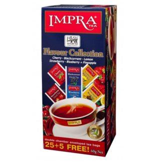 Чай Impra Flavour Collection Black Tea (Фруктовое ассорти), цейлонский, пакетированный, 30х2 г, 60 г