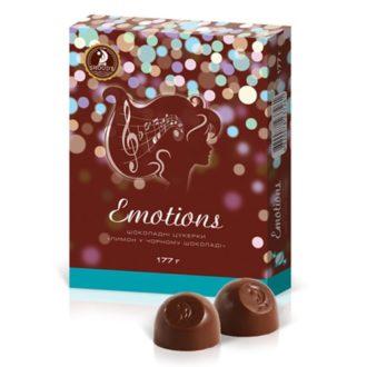 Шоколадные конфеты SHOUD'E Emotions Lemon Лимон в черном шоколаде, Украина, 177 г