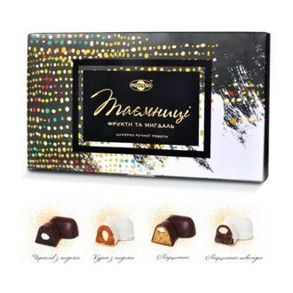 """Шоколадні цукерки """"Таємниці: Фрукти та мигдаль"""", Україна, 180 г"""