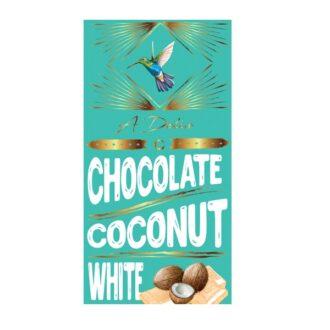 Шоколад A-Delis White Chocolate Coconut (Білий з кокосом), Україна, 90 г