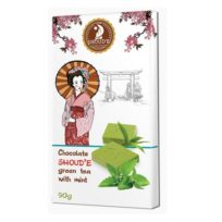 Шоколад SHOUD'E Mint Зеленый чай с мятой, белый, Украина, 90 г