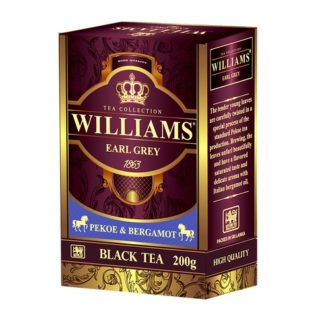 Чай Williams Earl Grey Pekoe Бергамот, цейлонский, 200 г