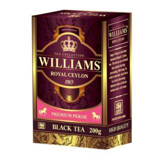 Чай Williams Royal Ceylon Super Pekoe Королевский Цейлон, цейлонский, 200 г