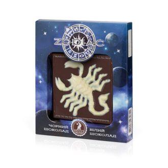 Шоколад SHOUD'E Zodiac Зодиак, Барельефные шоколадные плитки, черный, белый, 80 г
