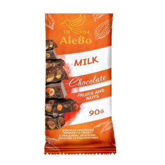 Шоколад A-Delis Chocolate Milk Fruits and Nuts (Молочний Фрукти та горіхи), Україна, 90 г