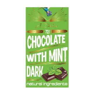 Шоколад A-Delis Chocolate dark Mint (Шоколад темний 72% з м'ятою), Україна, 90 г