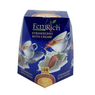 Чай FemRich Strawberry with Cream (Клубника со сливками), цейлонский, 100 г