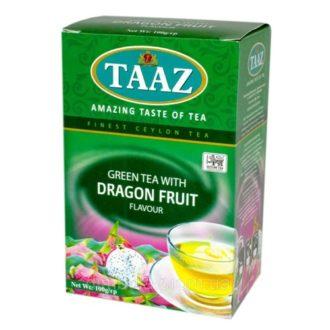 Чай TAAZ Dragon Fruit Green Аромат питахайя, цейлонский, 100 г
