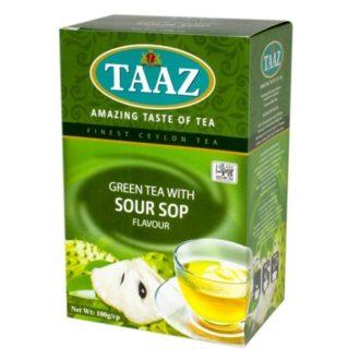 Чай TAAZ SourSop Green Саусеп, цейлонский, 100 г