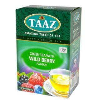 Чай TAAZ Wild berry Green Лесная Ягода, цейлонский, 100 г