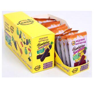 """Фруктово-медовий мармелад Honey Jelly Bumbblebee (Мед-виноград), від TM """"MARBEE"""" (Мед Поділля), 12 x 50 г"""