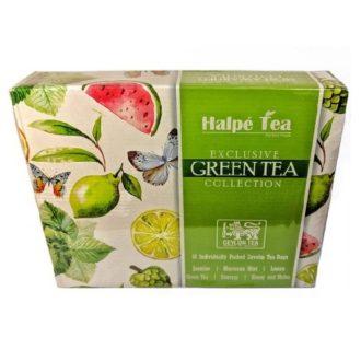 Чай Halpe Exclusive Green Tea Collection (Коллекция Halpe), цейлонский, пакетированный, 6x8x2 г, 96 г