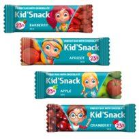 Шоколад SHOUD'E Kid'Snack Энергетические батончики, черный, 4*30 г