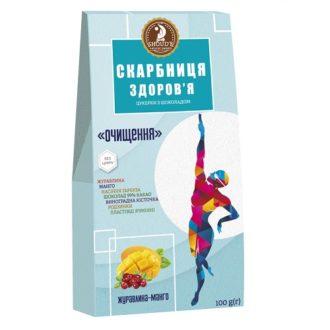 Шоколадные конфеты SHOUD'E Скарбниця здоров'я (Клюква, манго), Украина, 100 г.