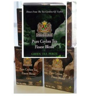Чай Dilshan Green Pekoe Finest Blend Tea Зеленый Пекое, цейлонский, 200 г