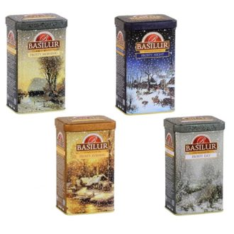Чай Basilur Winter Fairy Tale (Зимняя сказка), цейлонский, 4 x 85 г, 340 г