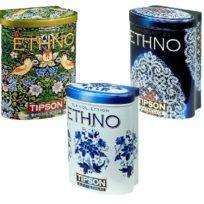 Чай Tipson коллекция Ethno (Весенние Птицы, Голубые цветы, Зимнее кружево), цейлонский, 3x100 г, 300 г
